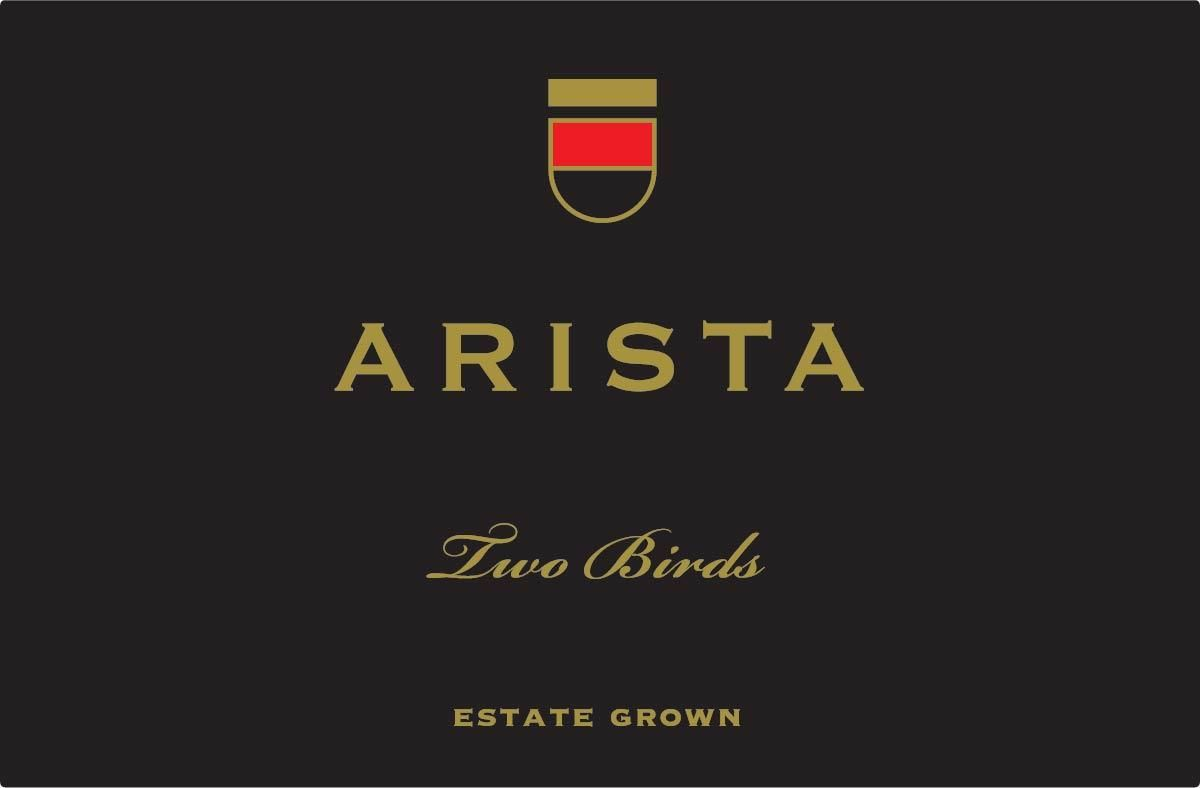 Arista Winery Pinot Noir Estate Grown Two Birds Vineyard 2015  Front Label
