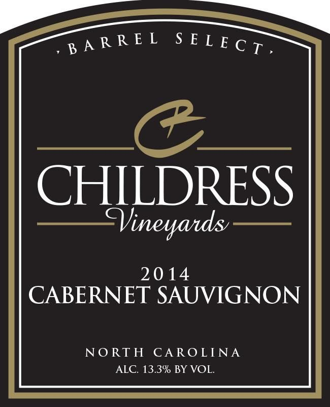 Childress Winery & Vineyards Cabernet Sauvignon 2014 Front Label