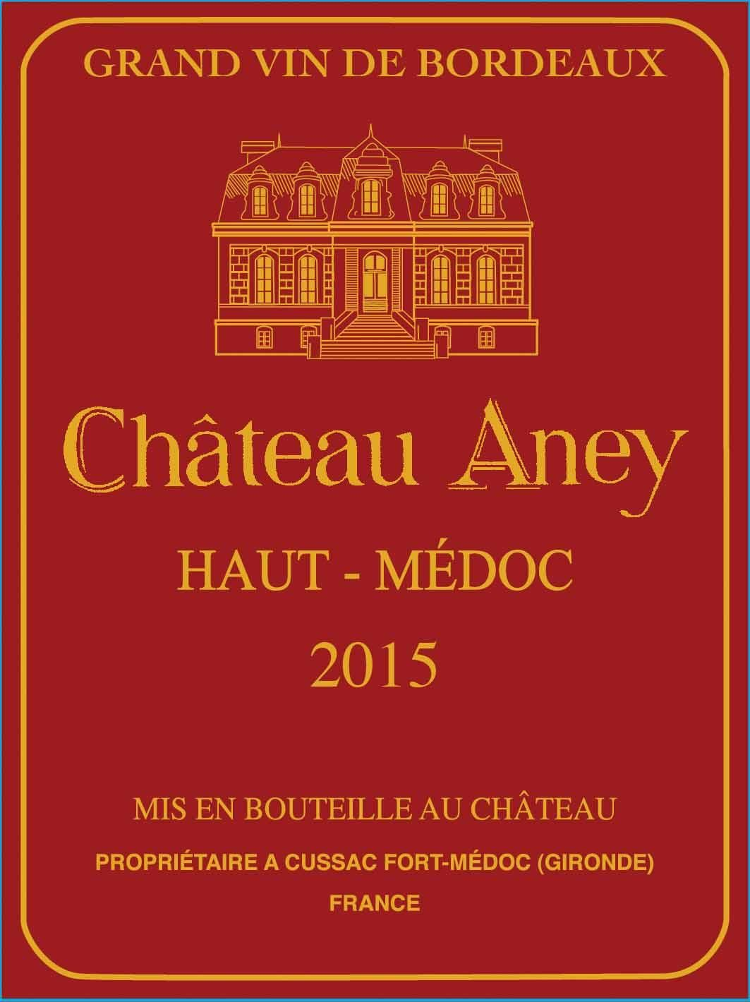 Chateau Aney  2015  Front Label