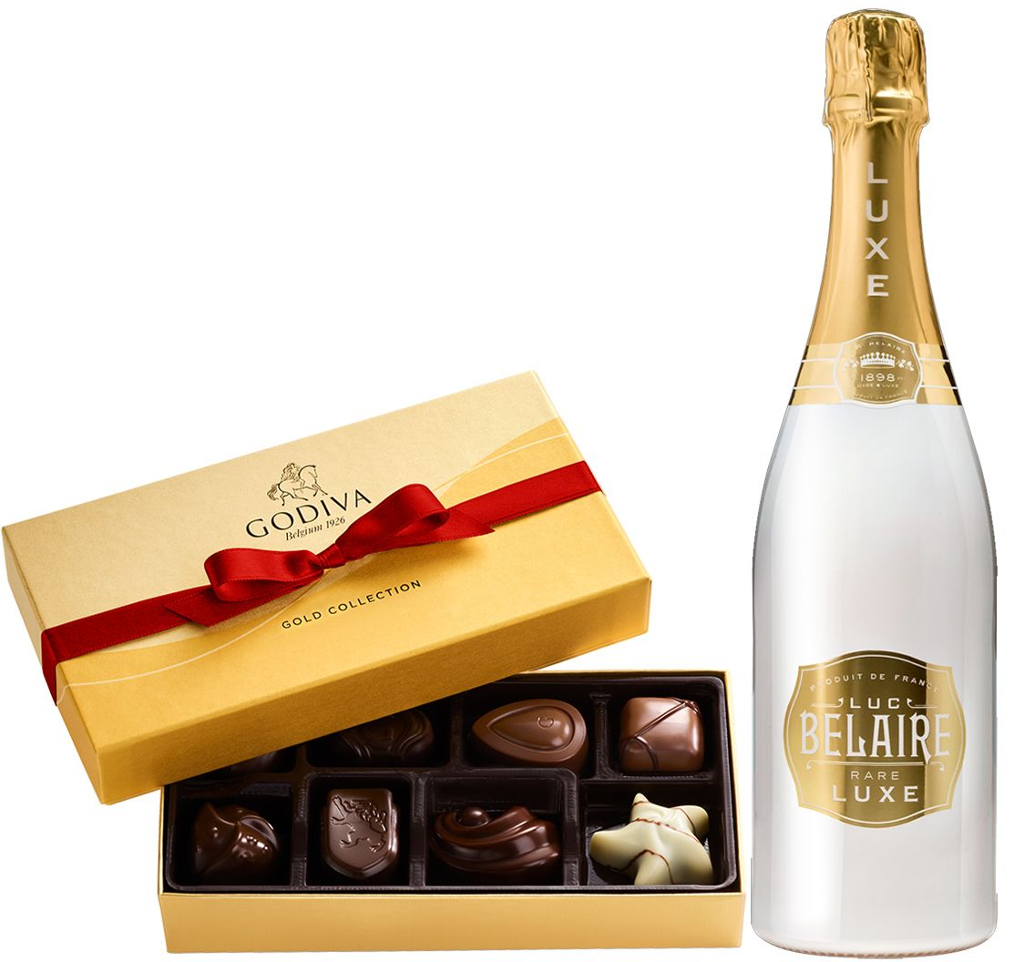 wine.com Bubbles & Godiva Gift Set Gift Product Image