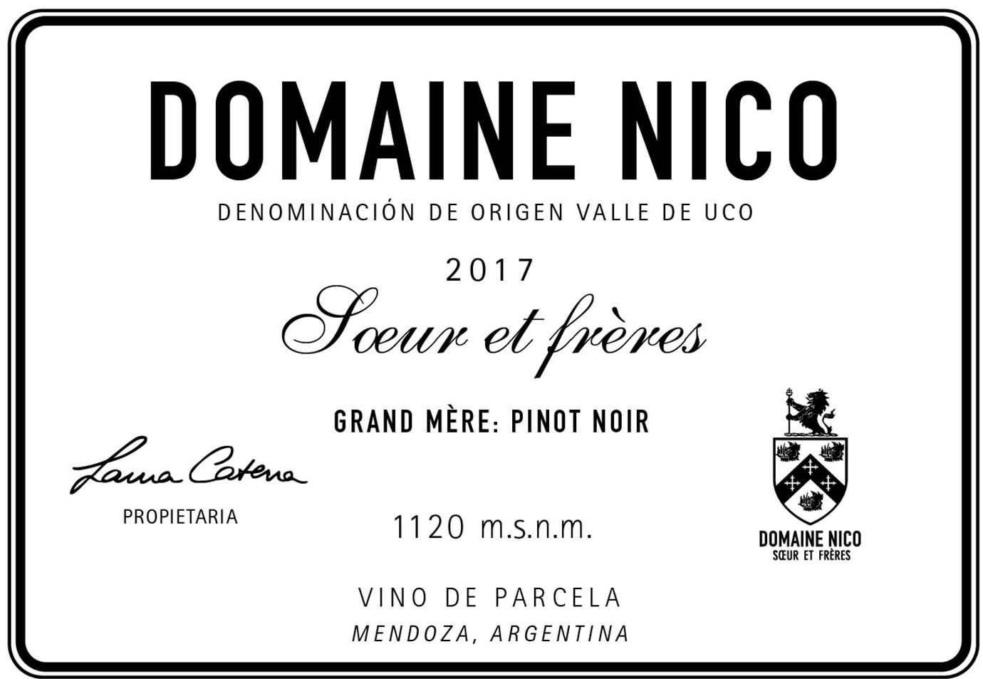 Domaine Nico Grand Mere 2017  Front Label