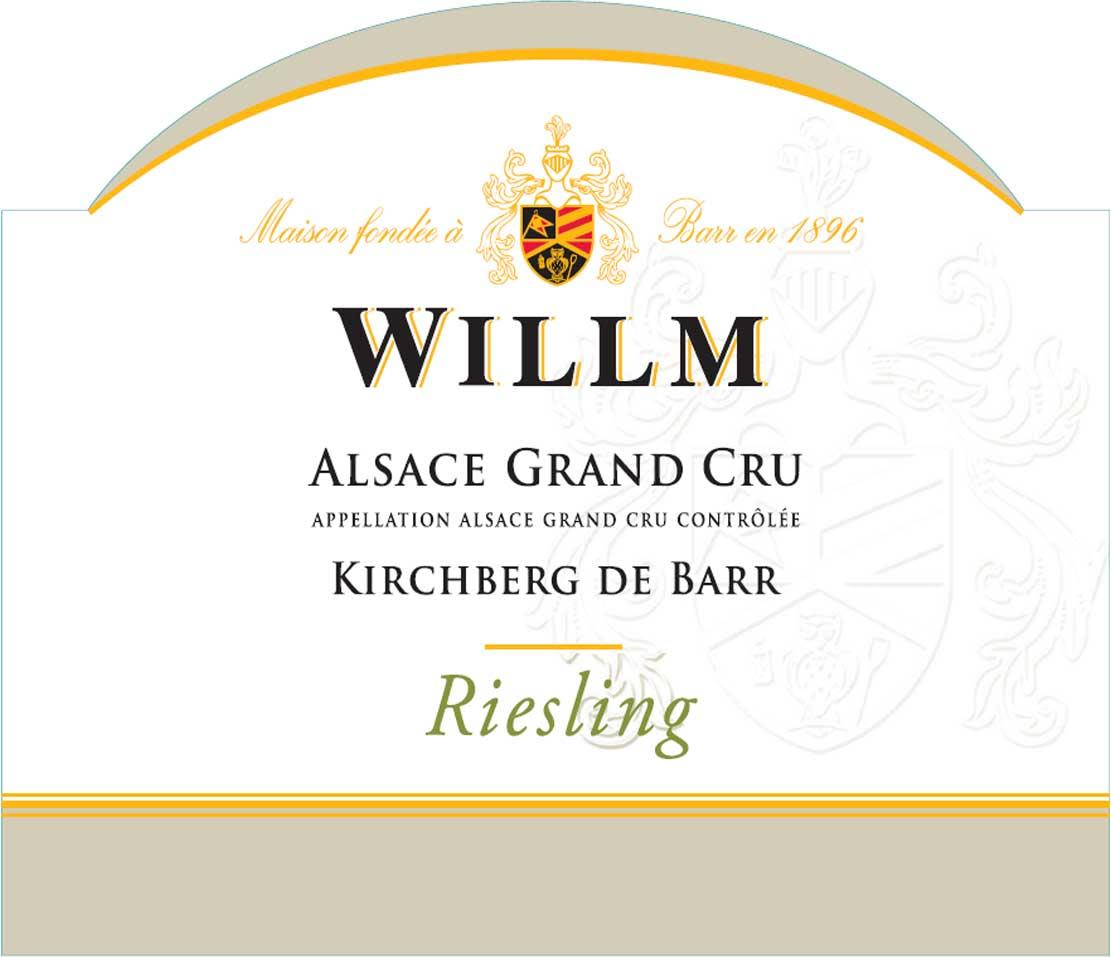 Alsace Willm Kirchberg de Barr Riesling 2016 Front Label
