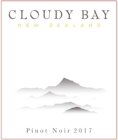 Cloudy Bay Pinot Noir 2017  Front Label