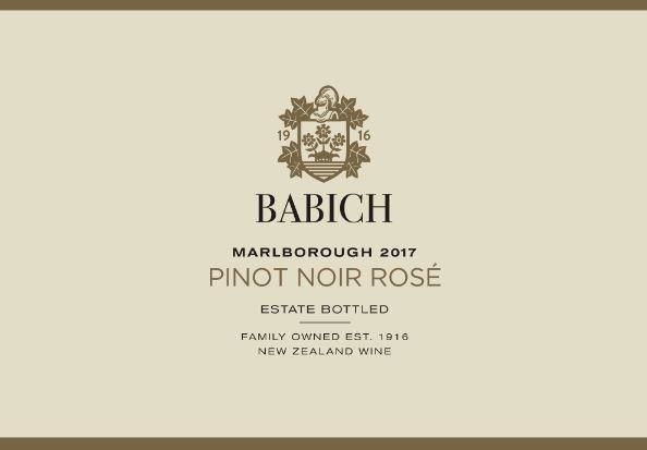Babich Rose 2017  Front Label
