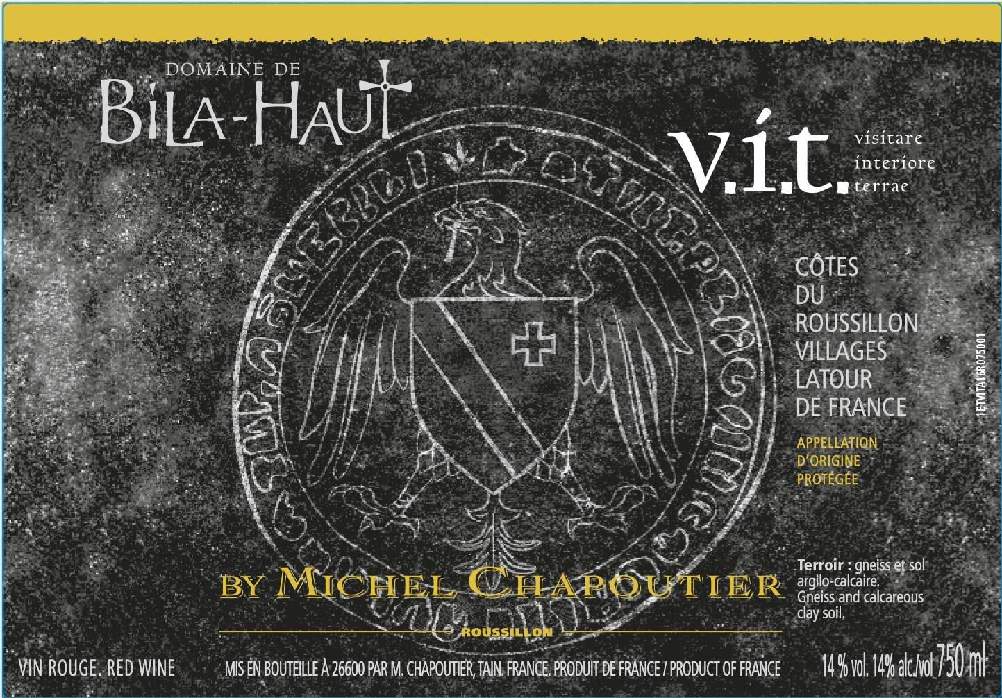 Bila-Haut by Michel Chapoutier v.i.t. Cotes du Roussillon Villages 2015  Front Label