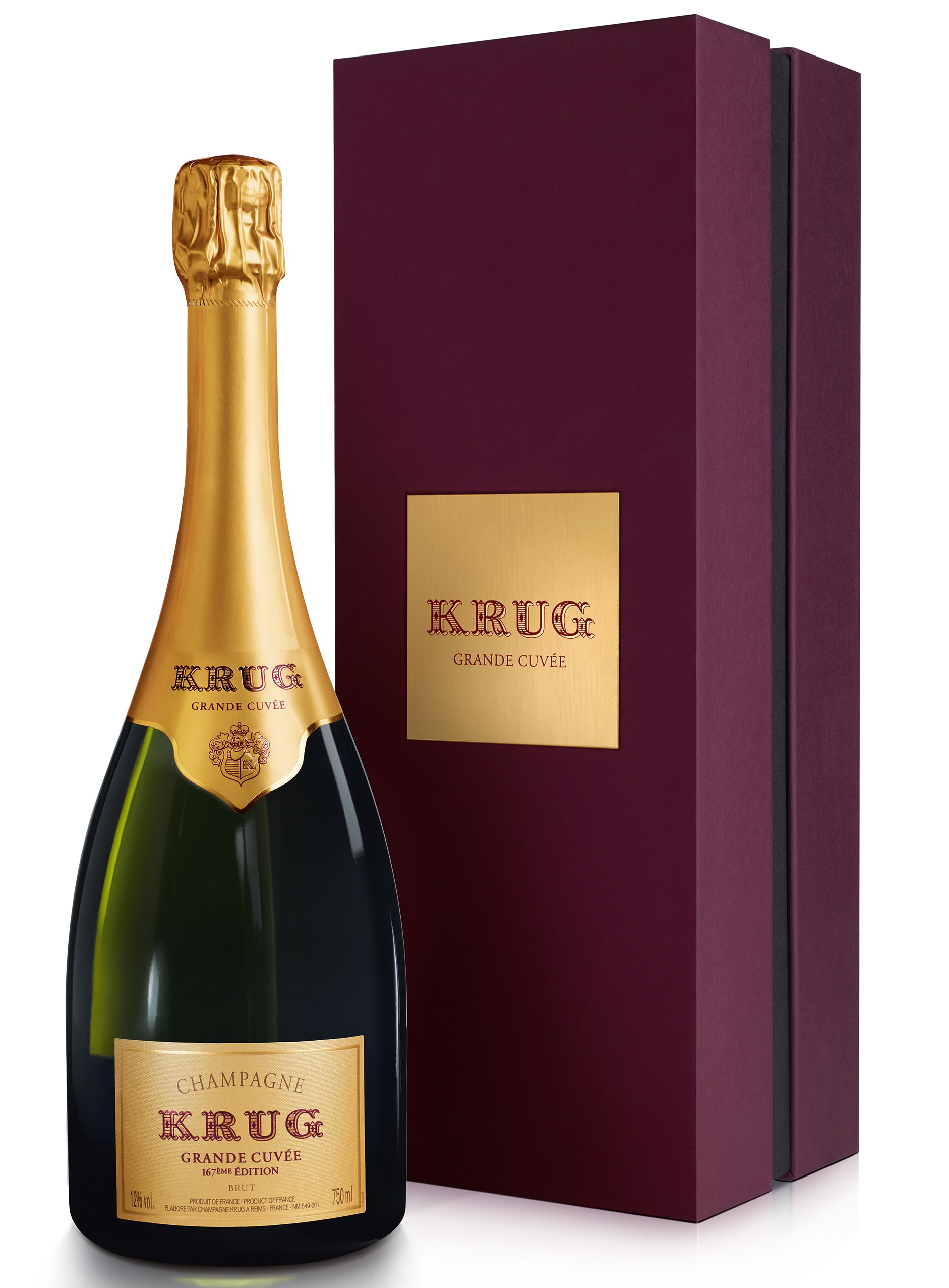 Krug Grande Cuvee Brut (167th Edition) with Gift Box  Gift Product Image