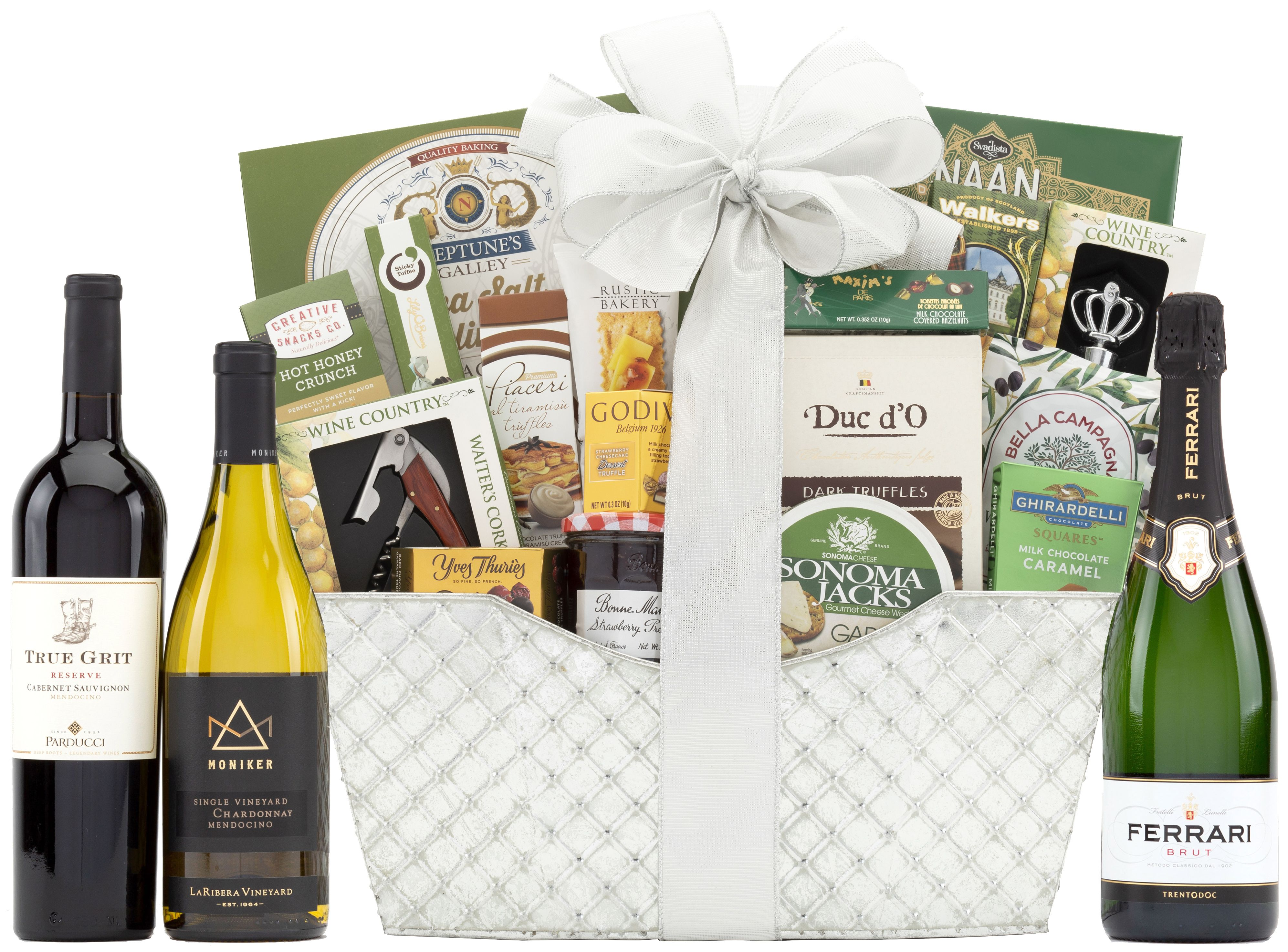 wine.com 90 Point Bountiful Vineyard Wine Gift Basket  Gift Product Image