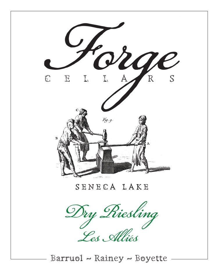 Forge Cellars Les Allies Riesling 2016 Front Label