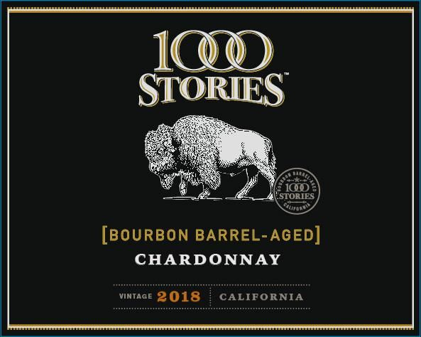 1000 Stories Bourbon Barrel Aged Chardonnay 2018  Front Label