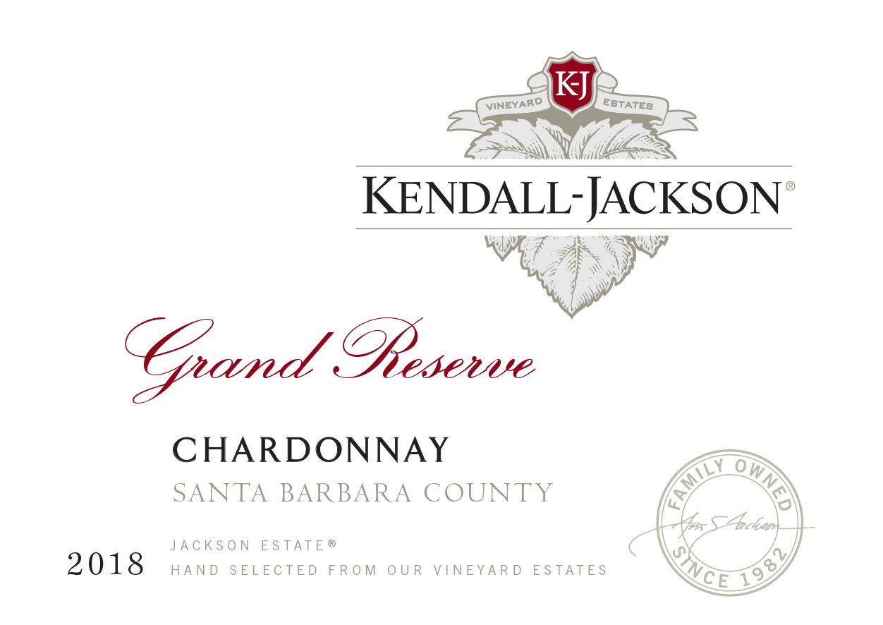 Kendall-Jackson Grand Reserve Chardonnay 2018  Front Label