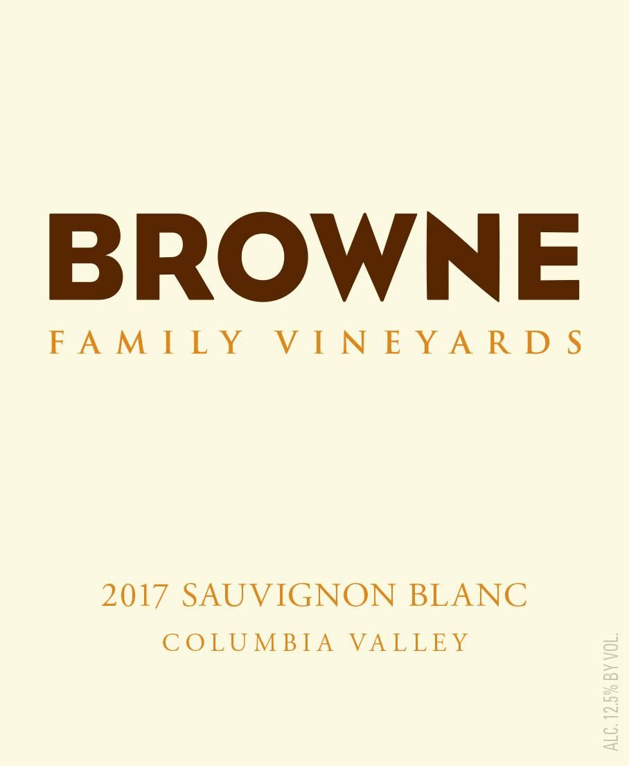 Browne Family Vineyards Sauvignon Blanc 2017 Front Label