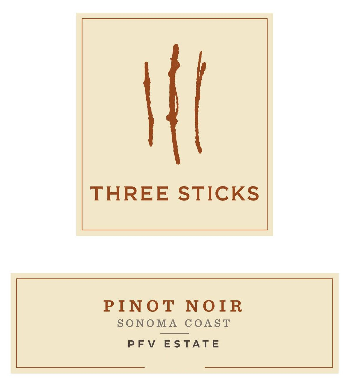 Three Sticks PFV Estate Pinot Noir 2016 Front Label