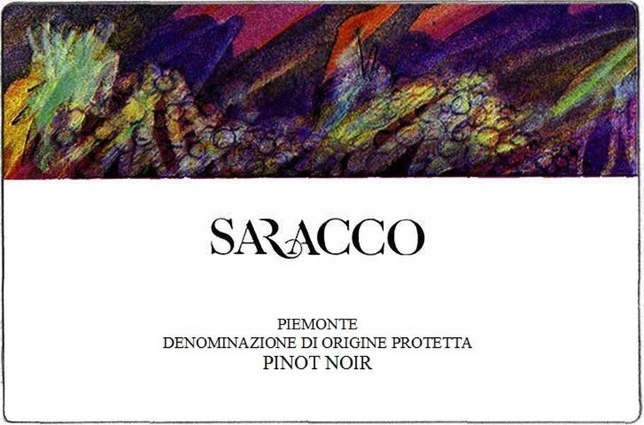 Saracco Pinot Noir 2018  Front Label