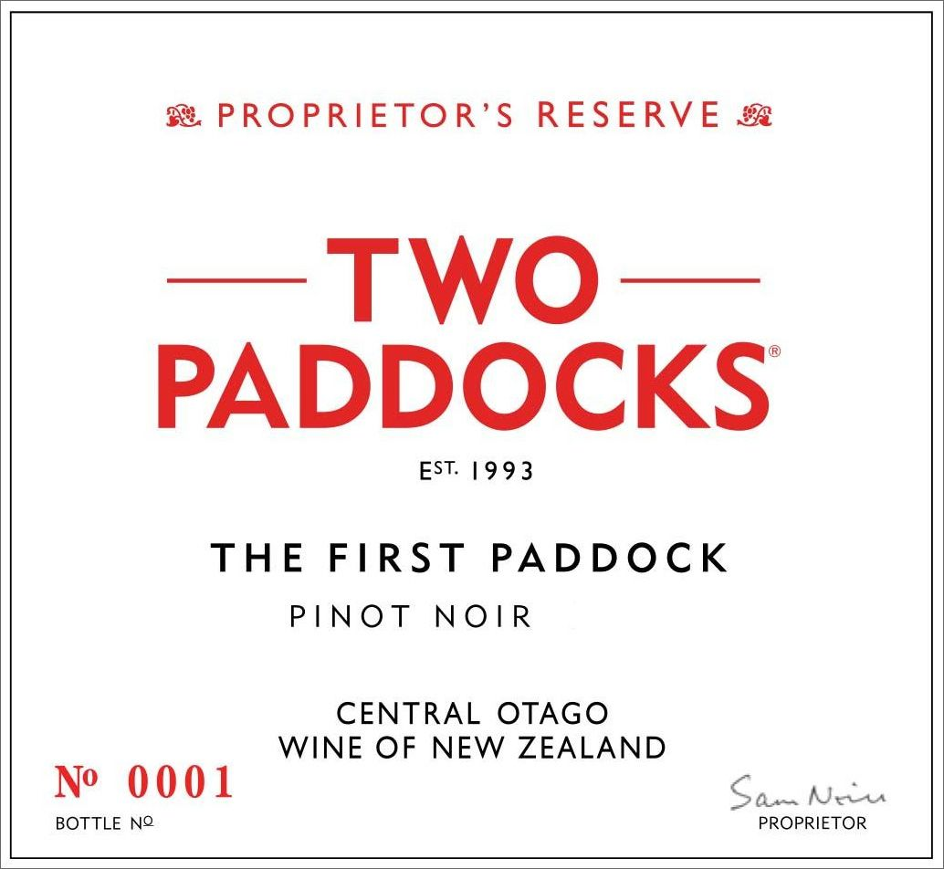 Two Paddocks The First Paddock Pinot Noir 2018  Front Label