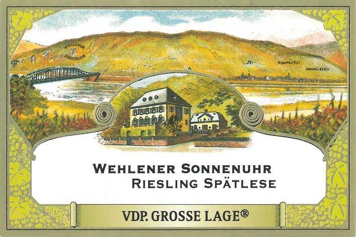 S.A. Prum Wehlener Sonnenuhr Spatlese Riesling 2015  Front Label
