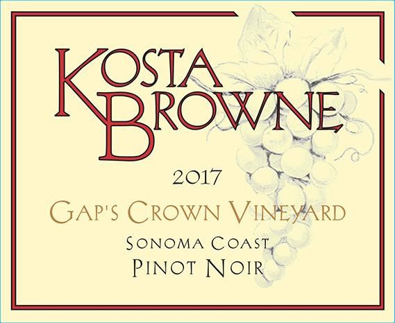 Kosta Browne Gap's Crown Vineyard Pinot Noir 2017  Front Label