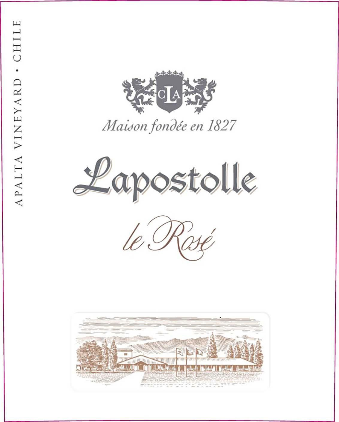 Lapostolle Le Rose 2019  Front Label
