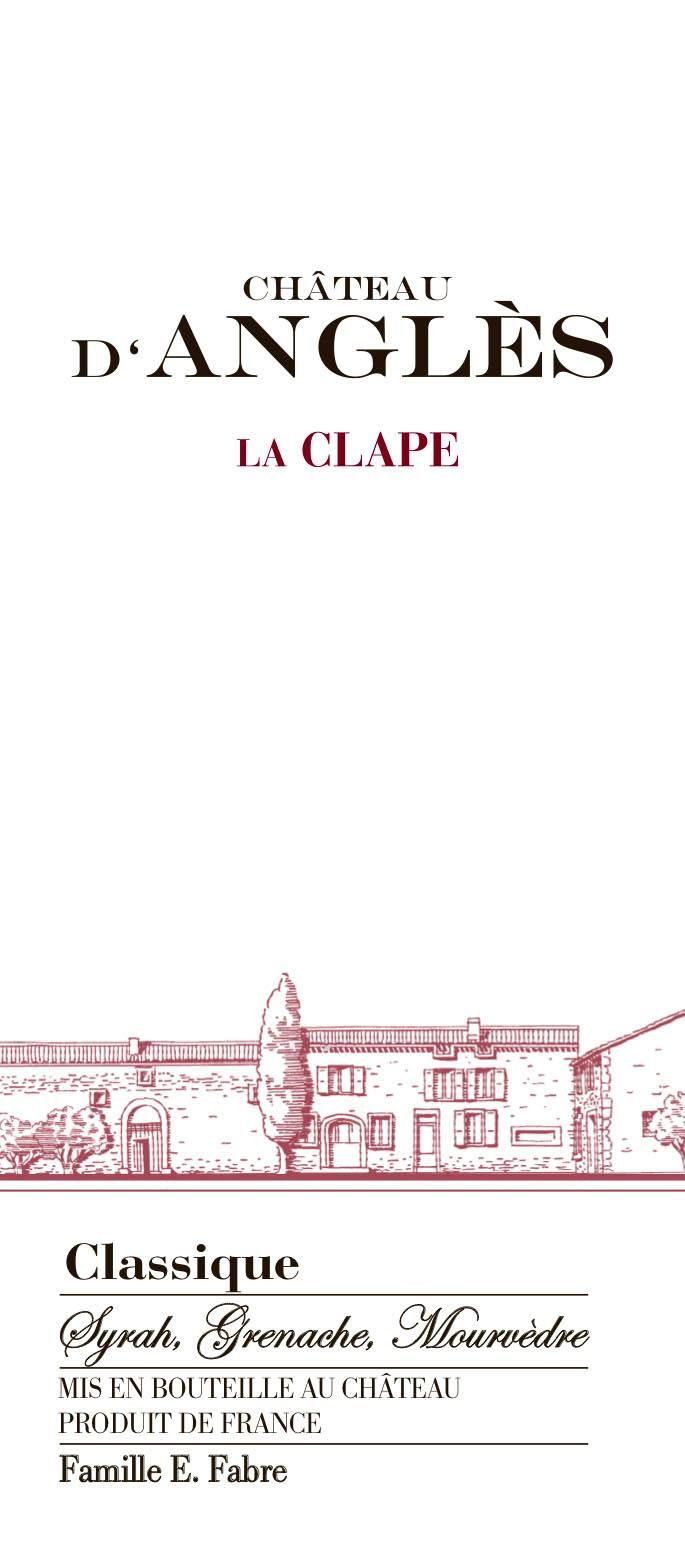 Chateau d'Angles La Clape Classique Red 2015 Front Label