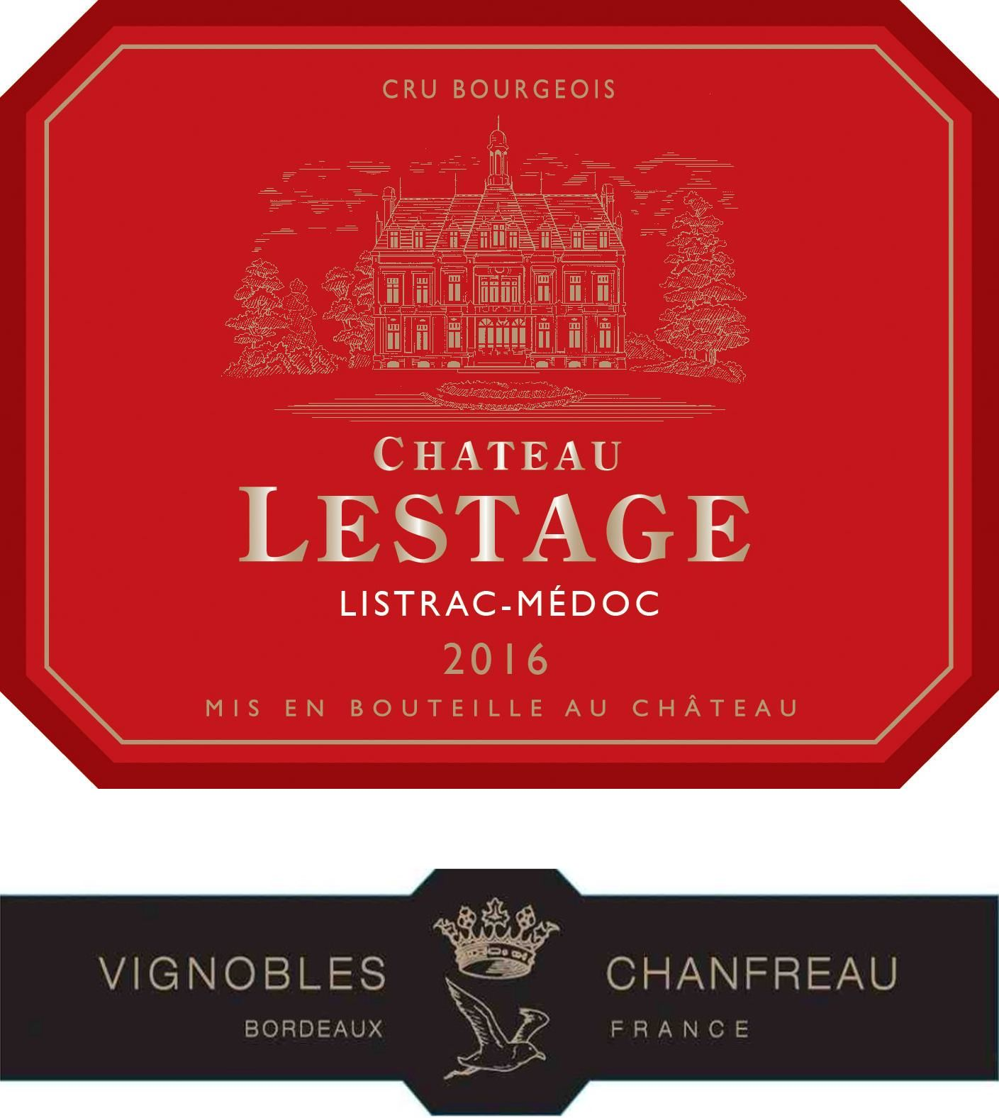 Chateau Lestage  2016  Front Label