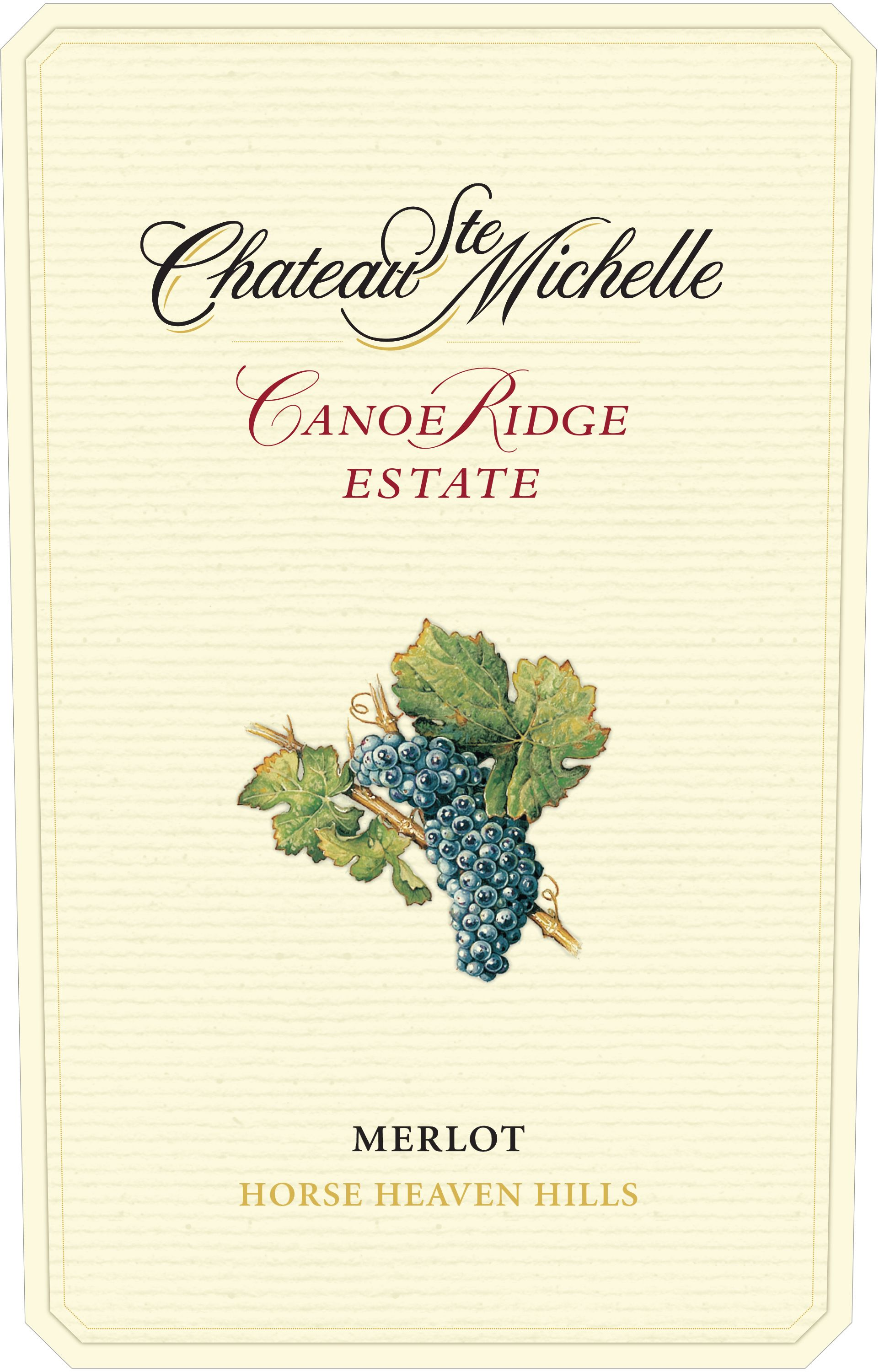 Chateau Ste. Michelle Canoe Ridge Estate Vineyard Merlot 2014  Front Label