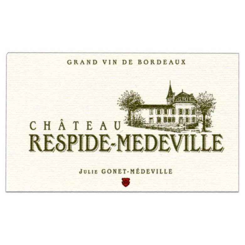 Chateau Respide Medeville Blanc 2017  Front Label