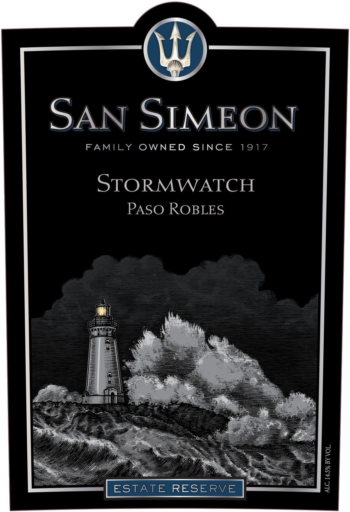 San Simeon Stormwatch Estate Reserve Red 2016  Front Label