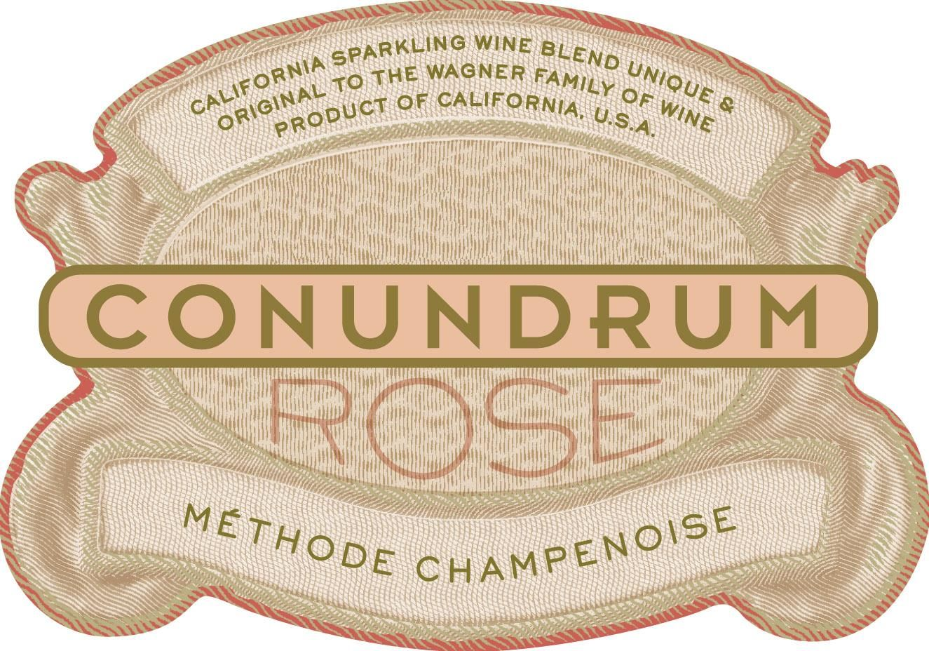 Conundrum Sparkling Rose 2017 Front Label