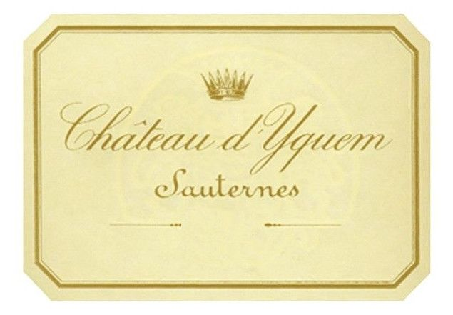 Chateau d'Yquem Sauternes (slightly torn label) 1989  Front Label