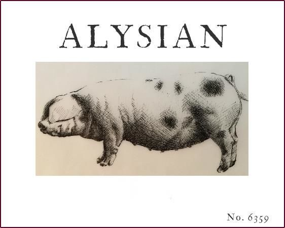 Alysian Grist Vineyard Red 2014  Front Label