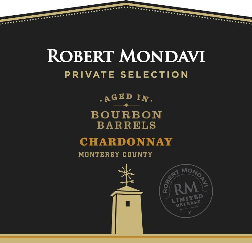 Robert Mondavi Private Selection Bourbon Barrels Chardonnay 2018 Front Label