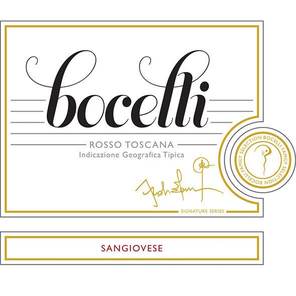 Bocelli Rosso Toscana Sangiovese 2017  Front Label