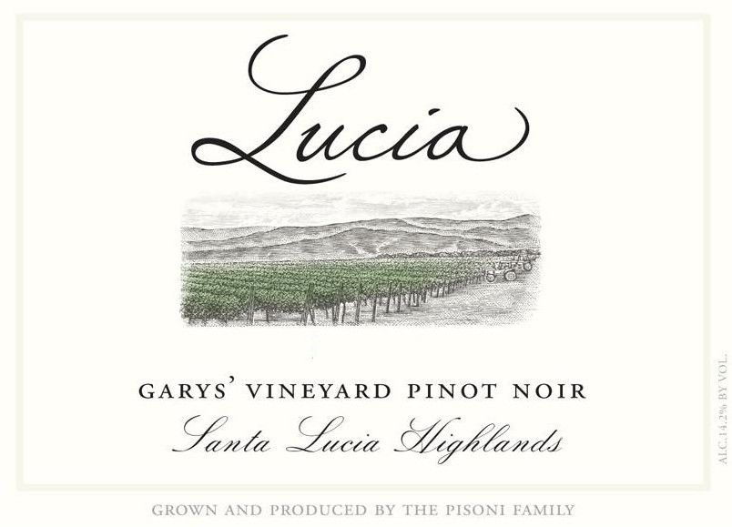 Lucia Vineyards Garys' Vineyard Pinot Noir 2017  Front Label