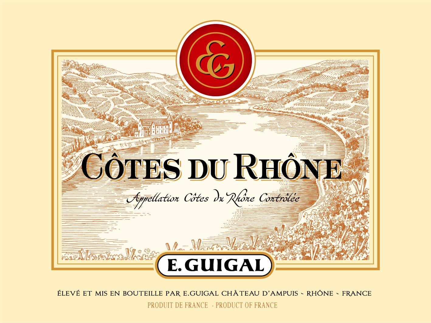 Guigal Cotes du Rhone Rouge 2017  Front Label