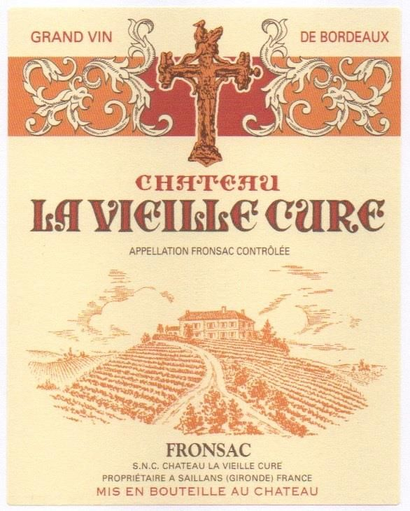 Chateau La Vieille Cure (Futures Pre-Sale) 2018  Front Label