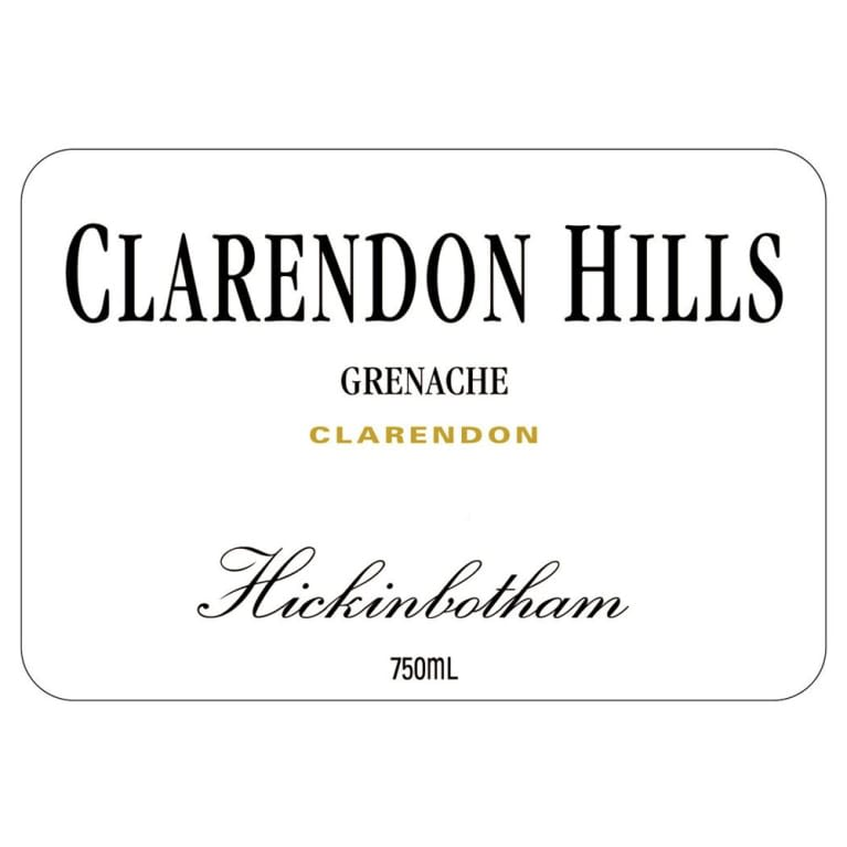 Clarendon Hills Hickinbotham Grenache 2011  Front Label