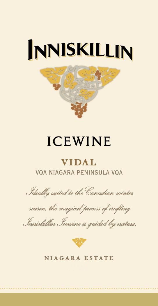 Inniskillin Vidal Icewine (375ML half-bottle) 2017 Front Label
