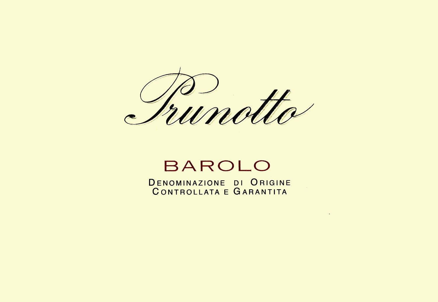 Prunotto Barolo 2005 Front Label