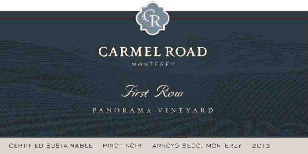 Carmel Road First Row Pinot Noir 2013 Front Label