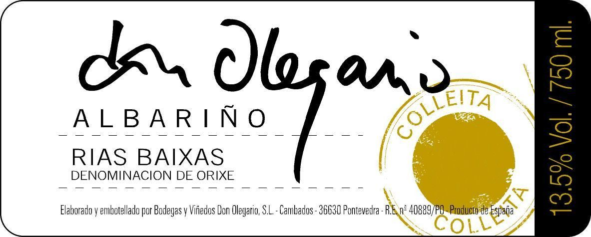 Don Olegario Albarino 2018  Front Label