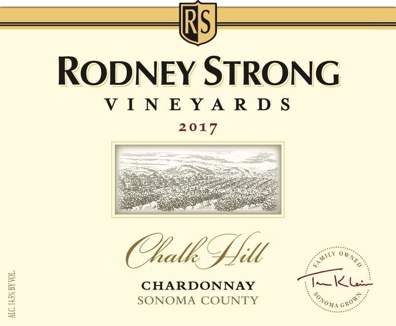 Rodney Strong Chalk Hill Chardonnay 2017  Front Label