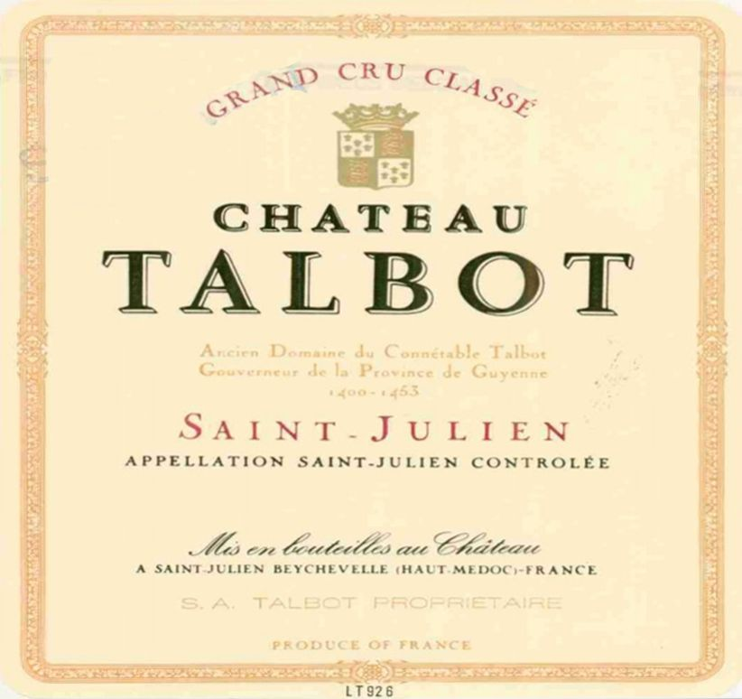 Chateau Talbot  1993  Front Label