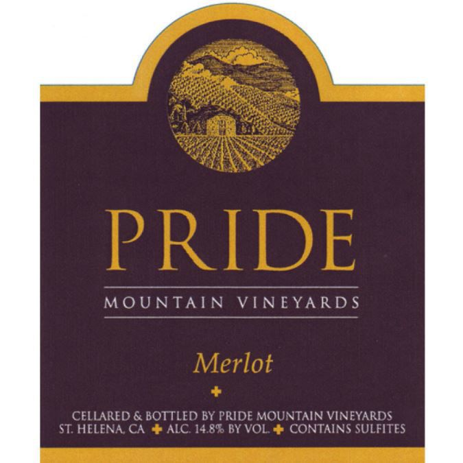Pride Mountain Vineyards Merlot 1998  Front Label
