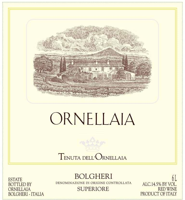 Ornellaia Bolgheri Superiore 2005  Front Label