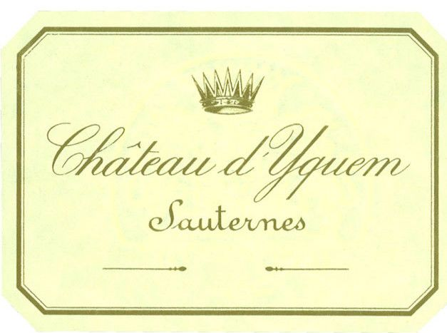 Chateau d'Yquem Sauternes (375ML half-bottle) 1998  Front Label
