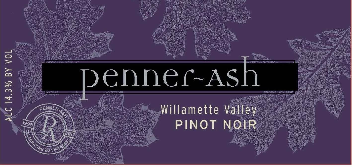 Penner-Ash Willamette Valley Pinot Noir 2018  Front Label