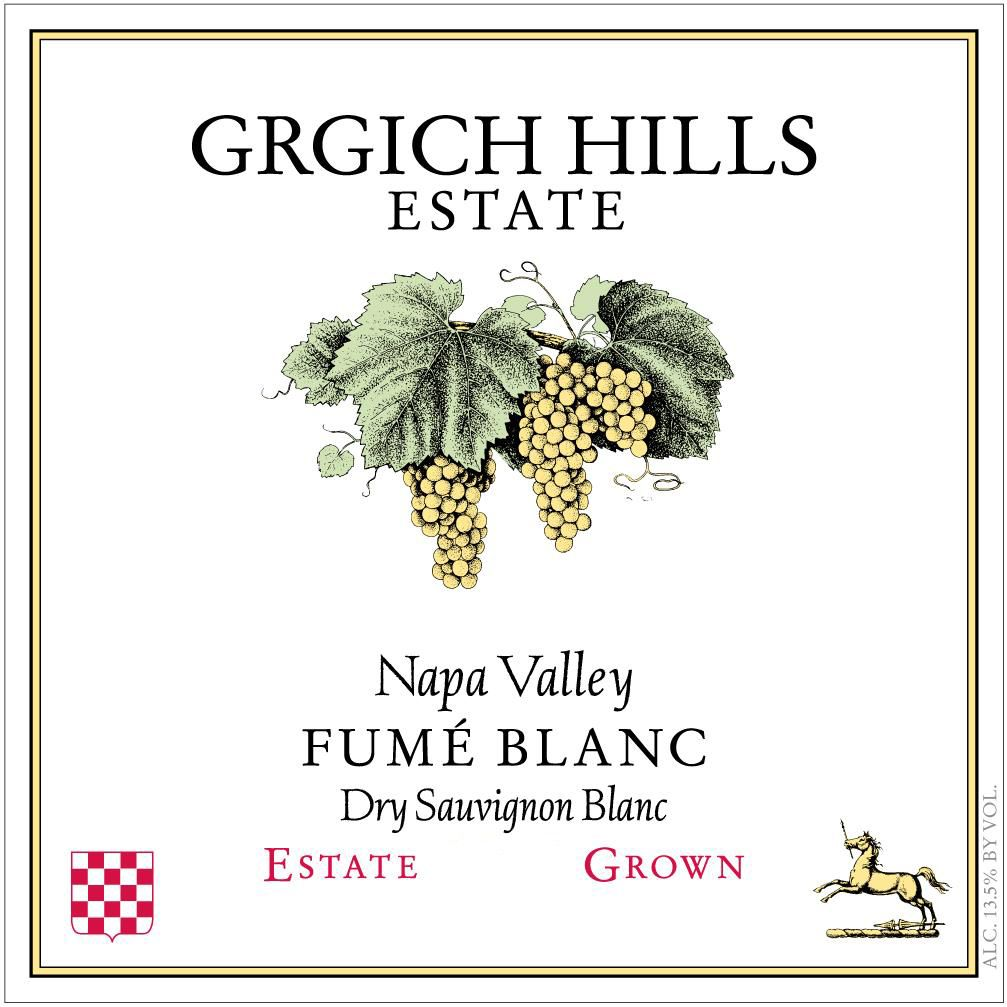 Grgich Hills Estate Fume Blanc (375ML half-bottle) 2018  Front Label