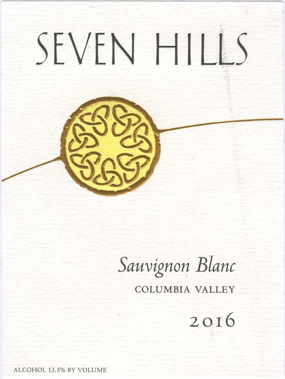 Seven Hills Winery Sauvignon Blanc 2016  Front Label