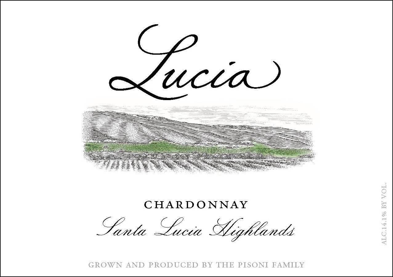 Lucia Vineyards Santa Lucia Highlands Chardonnay 2017 Front Label