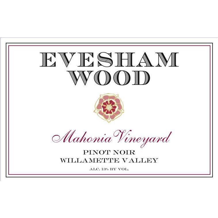 Evesham Wood Mahonia Vineyard Pinot Noir 2017  Front Label