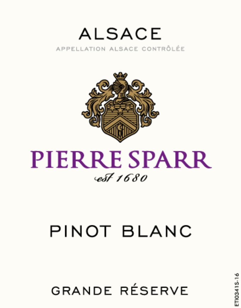 Pierre Sparr Pinot Blanc 2017  Front Label